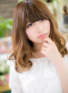 外国人風透けカラー☆小顔ラフセミディ