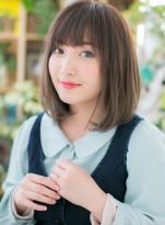 個性的な透けカラー☆小顔ミニマムボブ