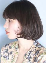 毛先ワンカール◇大人結べるナチュラルボブ(髪型ボブ)
