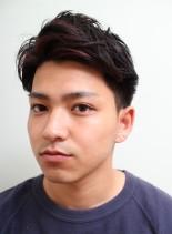 ツーブロックアップバングショート(髪型メンズ)