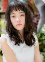 美人顔♪黒髪ウェットセミロングレイヤー