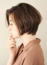 ニュアンスショートボブ(髪型ショートヘア)