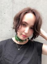夏髪エッジショート(髪型ショートヘア)