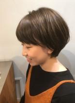 大人可愛い耳掛けショートボブ☆(髪型ショートヘア)
