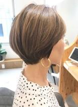 30代・40代◎キレイなショートボブ(髪型ショートヘア)