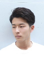 刈り上げアップバングショート(髪型メンズ)