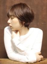 大人かわいいショートボブ(髪型ショートヘア)