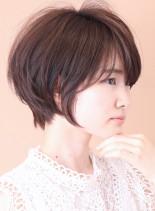 骨格カバー☆大人シルエットショートボブ(髪型ショートヘア)