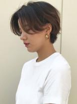 お手入れ簡単耳かけショートカット(髪型ショートヘア)