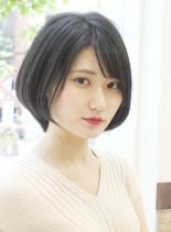 小顔効果ありの40代からのショートヘア(髪型ショートヘア)