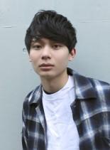 爽やかメンズ黒髪ショート(髪型メンズ)