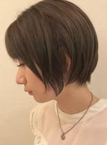 大人可愛い丸みショート(髪型ショートヘア)