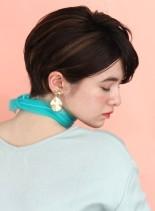 リラックスフレンチショートカット(髪型ショートヘア)