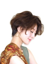 大人のフレンチショート(髪型ショートヘア)