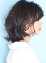 大人のひし形◇耳掛けラフボブディ(髪型ボブ)