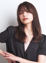 大人ミディアムレイヤー(髪型セミロング)