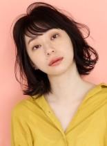 くせ毛風パーマの☆エアリー外ハネボブ(髪型ボブ)