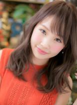 大人かわいい小顔カジュアルセミディ(髪型セミロング)