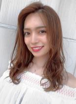 大人ガーリースタイル(髪型ロング)