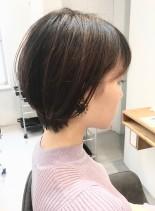 30代・40代◎大人の耳かけショート(髪型ショートヘア)