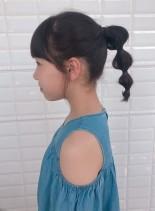 キッズヘアアレンジ(髪型ミディアム)