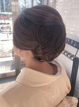 【お着物に】アップスタイル(髪型ロング)