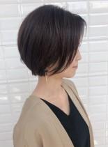 お手入れ簡単☆大人のショートボブ(髪型ショートヘア)