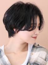 ☆30代40代 大人のセンターショート☆(髪型ショートヘア)