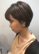 大人可愛いふんわりショートカット(髪型ショートヘア)