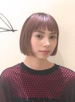 カラーで楽しむ夏のシンプルボブ(髪型ボブ)
