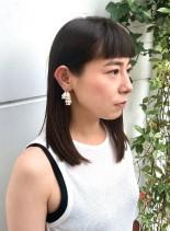 30代◎凛としたセミディスタイル(髪型セミロング)