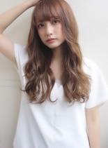大人可愛いラフウェーブ&イルミナカラー☆(髪型ロング)