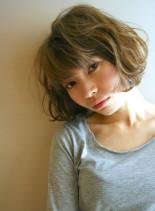大人パーマボブ(髪型ボブ)