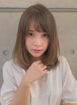 大人可愛い 小顔セミディ(髪型ミディアム)