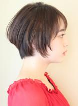30代40代50代〜のひし形ショート(髪型ショートヘア)