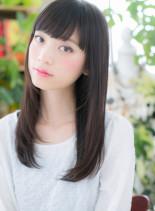 黒髪ワンカールストレート☆ヘルシーロング(髪型ロング)