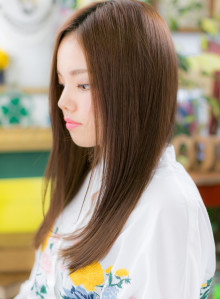 美シルエット☆センターパートの大人ロング