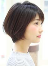 大人女性のショートボブ(髪型ショートヘア)