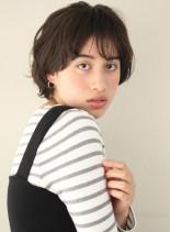 柔らかふんわりマッシュショートボブ(髪型ショートヘア)