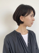 ナチュラルショートボブ(髪型ショートヘア)