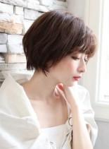 本田翼風 決めすぎないヌケ感ショートボブ(髪型ショートヘア)