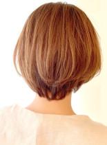 大人可愛い小顔ニュアンスショート(髪型ショートヘア)