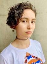 ウェーブショートボブ(髪型ショートヘア)