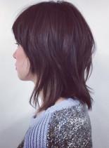 ミディアムレイヤー(髪型ミディアム)
