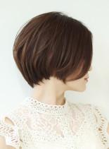 40代50代の小顔ショート(髪型ショートヘア)