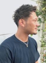 2ブロックメンズショート(髪型メンズ)