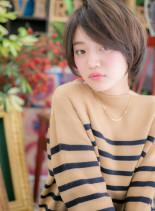 ナチュラル&ピュアな小顔ひし形ショート(髪型ショートヘア)