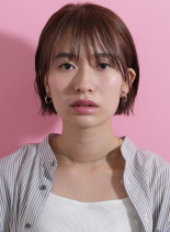 ストレートミニマムショートボブ(髪型ショートヘア)