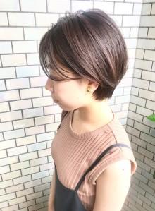 30代・40代◎前髪長めのショート(ビューティーナビ)