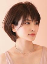 ボリュームUPフォルム☆大人ショートボブ(髪型ショートヘア)